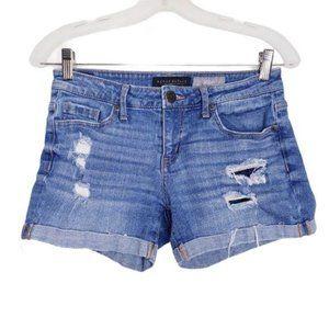 Aeropostale Distressed Cuffed Denim Jean Shorts 2